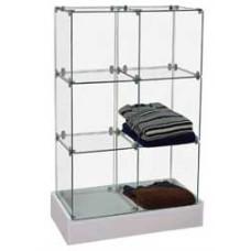 "Glass Cubic Display -24""Lx12""Wx36""H-"